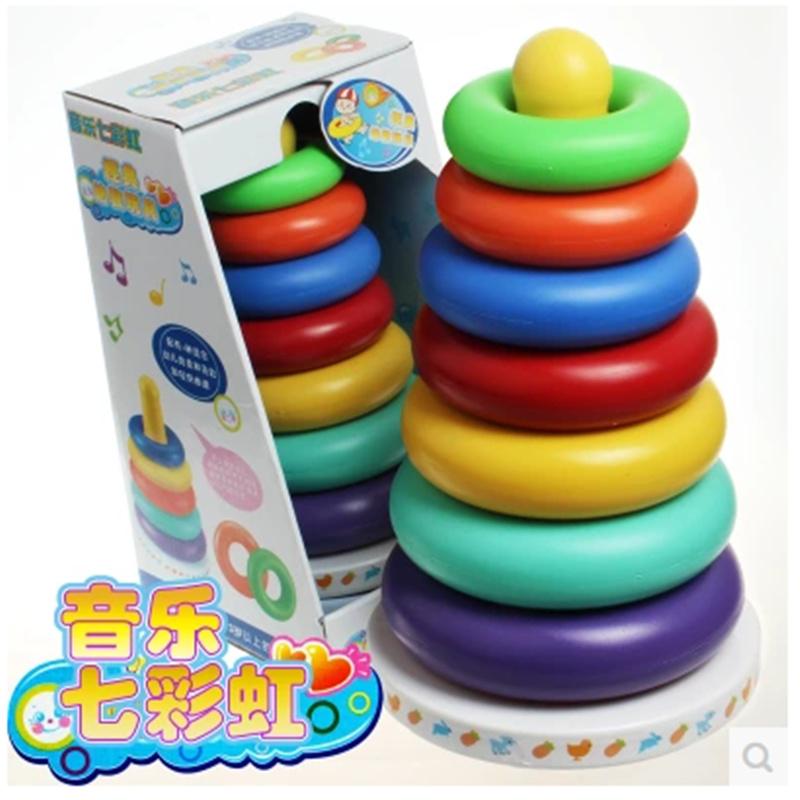 贝喜欣大号彩虹塔婴儿益智玩具