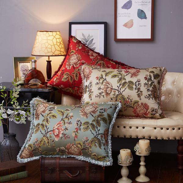 欧式抱枕沙发背靠垫50 70大号靠背长方形床头靠背垫套含芯可拆洗